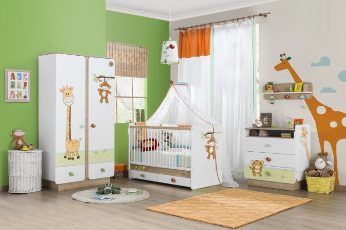 deco chambre bebe jungle 181009 la. Black Bedroom Furniture Sets. Home Design Ideas