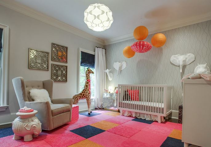 decoration chambre bebe safari