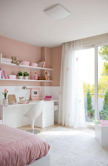 decoration chambre fille vieux rose - visuel #9
