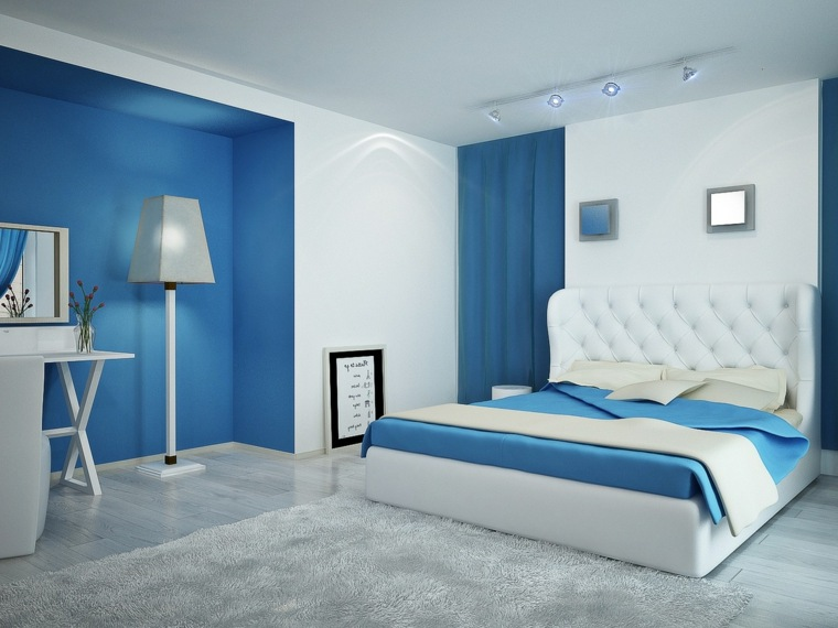 Decoration Chambre Gris Et Bleu Visuel 8