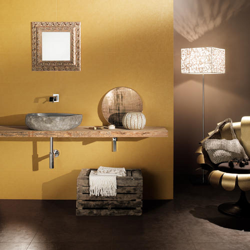 decoration chambre jaune et marron