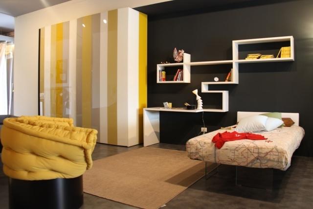decoration chambre jaune et marron - visuel #5