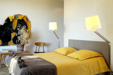 decoration chambre jaune et marron - visuel #1
