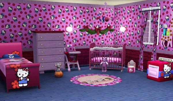 Decoration Chambre Petite Fille Hello Kitty