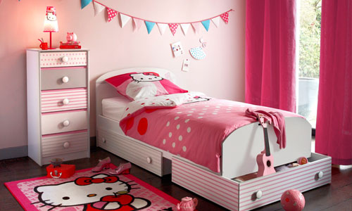 Superieur Decoration Chambre Fille Hello Kitty
