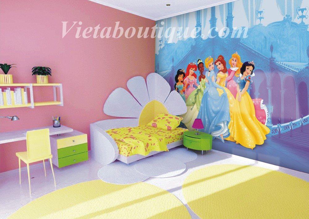 Decoration chambre princesse disney for Grande chambre fille