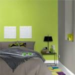 decoration chambre vert et gris