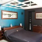 decoration de chambre turquoise et chocolat