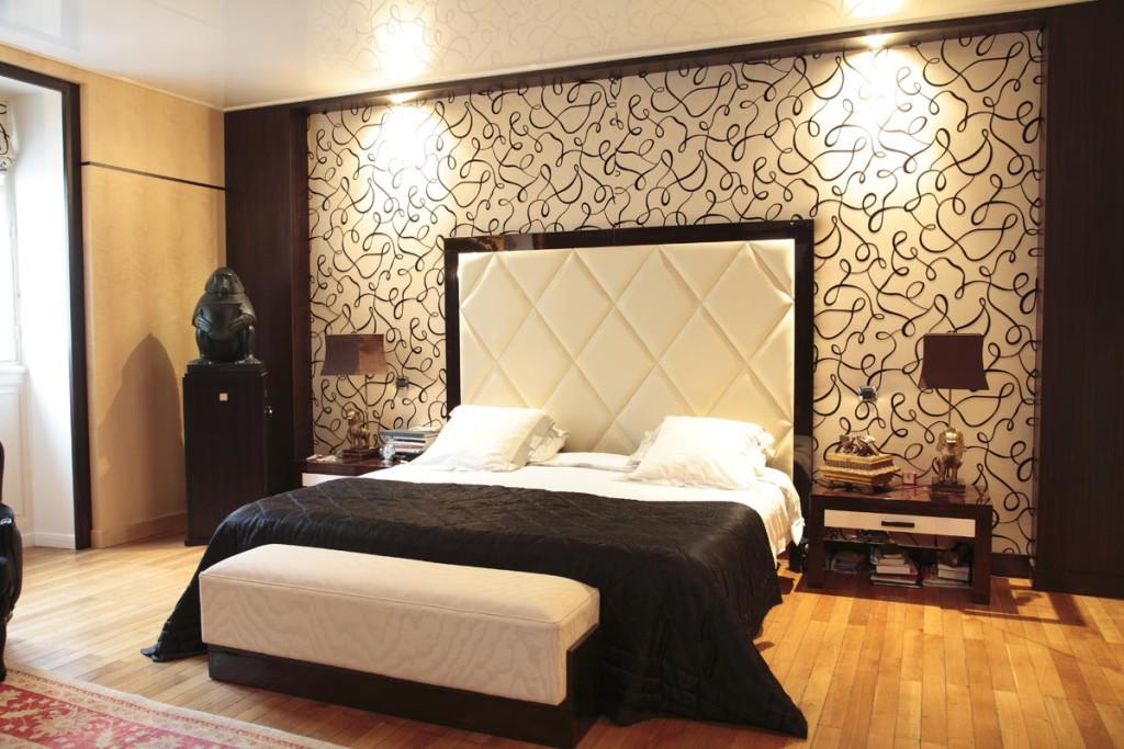 decoration murale tete lit visuel 4. Black Bedroom Furniture Sets. Home Design Ideas