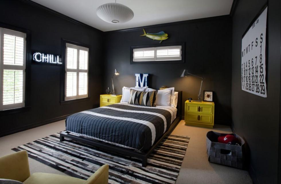 Beautiful Deco Chambre Mur Noir Galerie - Idées décoration ...