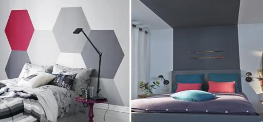 decoration tete de lit peinture - visuel #8