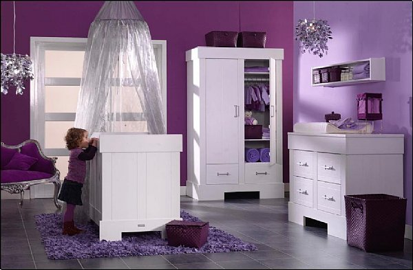 Emejing Idee Deco Chambre Bebe Fille Mauve Pictures - Matkin.info ...