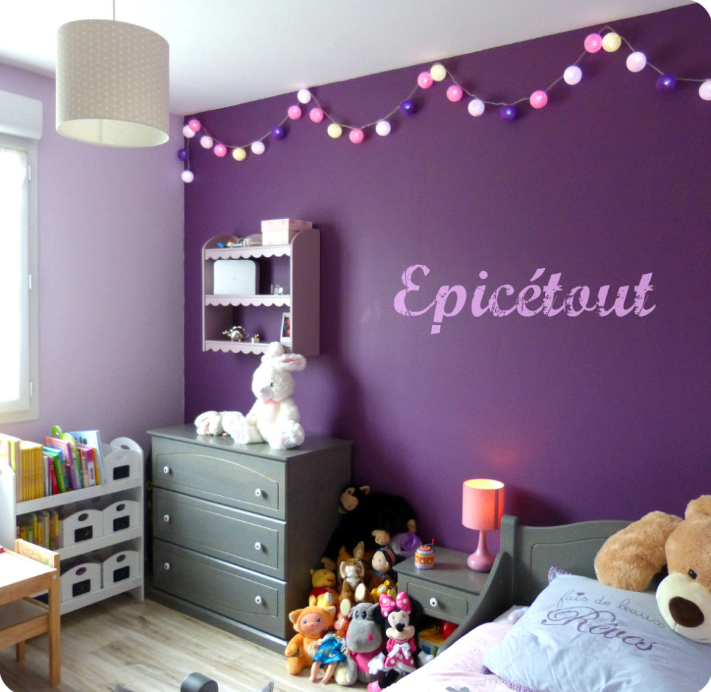 idee deco chambre bebe fille mauve - visuel #8