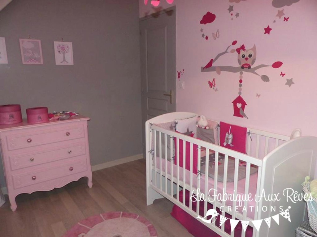 awesome decoration chambre bebe fille gris et rose 2 photos - Idee Deco Chambre Fille Bebe