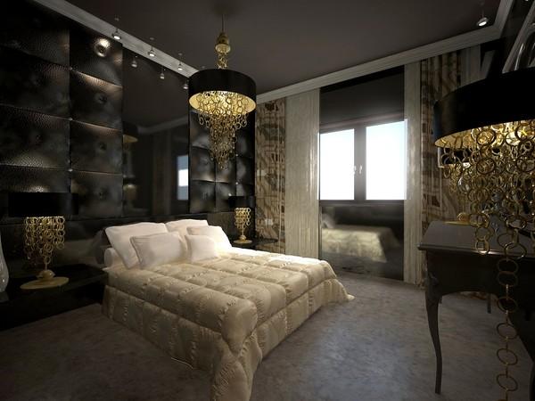 Chambre deco noir et beige - Chambre deco baroque ...
