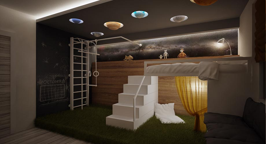chambre deco planete visuel 4. Black Bedroom Furniture Sets. Home Design Ideas