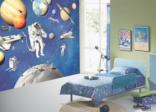 Decoration Murale Planetes Fusee