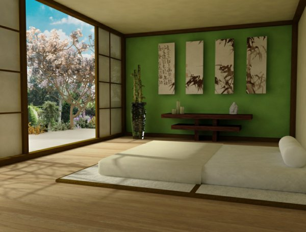chambre decoration japonaise. Black Bedroom Furniture Sets. Home Design Ideas
