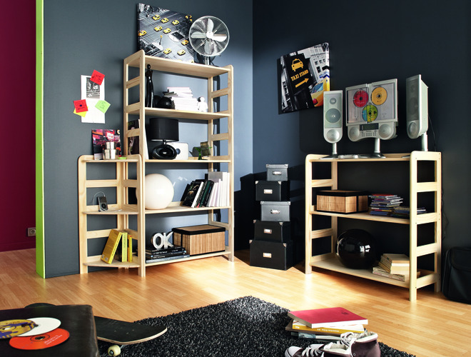 style de chambre ado gar on. Black Bedroom Furniture Sets. Home Design Ideas