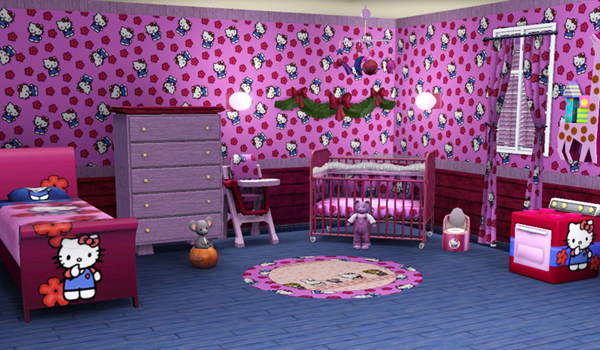 deco chambre bebe hello kitty. Black Bedroom Furniture Sets. Home Design Ideas