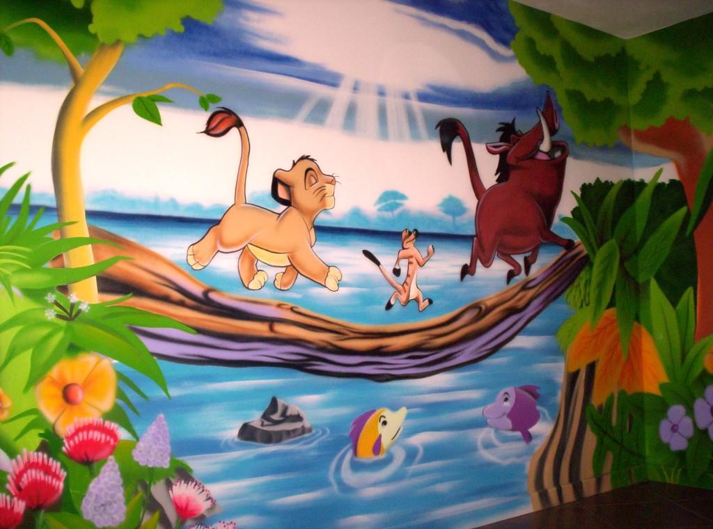 deco chambre bebe le roi lion visuel 8. Black Bedroom Furniture Sets. Home Design Ideas