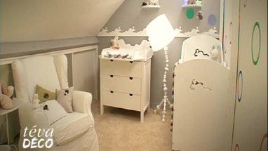 Emejing decoration chambre bebe mansardee photos for Deco chambre bebe mansardee 2