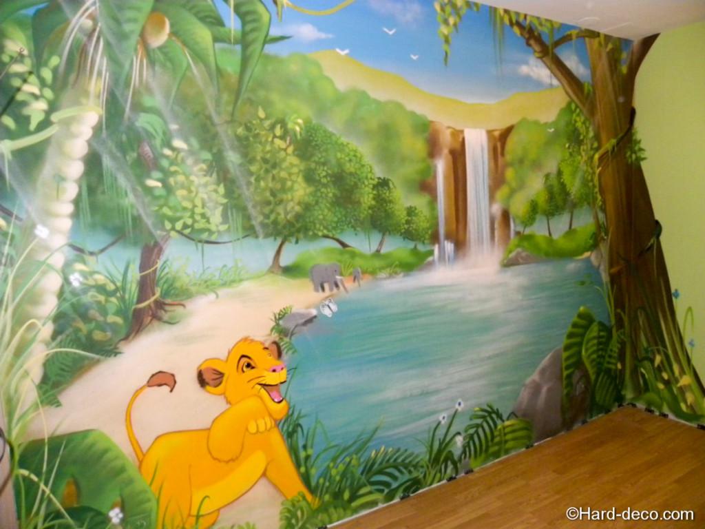 Stickers disney chambre bb home u003e disney the lion - Deco mural chambre bebe ...