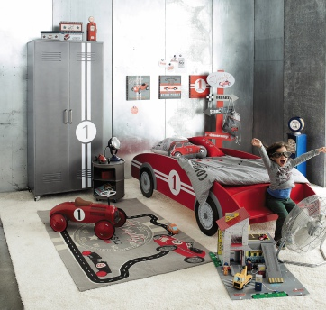 Deco chambre garcon theme voiture for Chambre garcon voiture