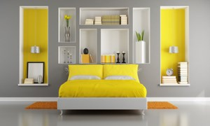 Best Deco Chambre Jaune Et Blanc Photos - House Design - marcomilone.com