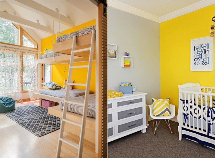 deco chambre jaune et blanc - visuel #7
