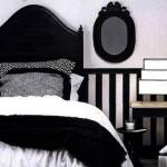 deco chambre noire et blanc