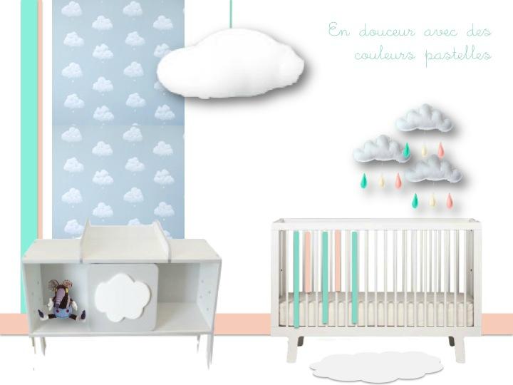 deco chambre nuage. Black Bedroom Furniture Sets. Home Design Ideas