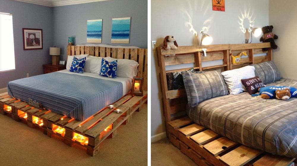 deco chambre palette. Black Bedroom Furniture Sets. Home Design Ideas