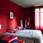 deco chambre rouge et gris