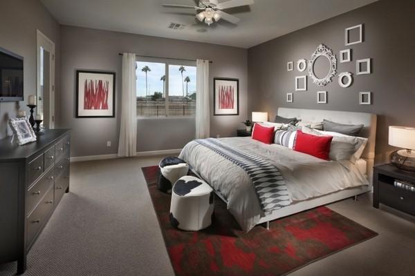 deco chambre rouge et gris - visuel #6