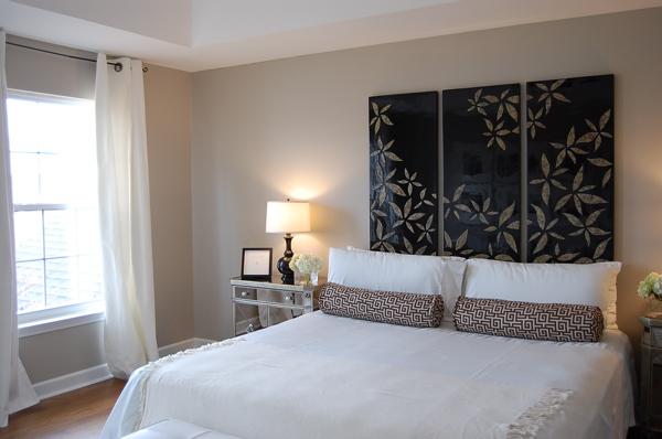 deco chambre taupe et blanc - visuel #6