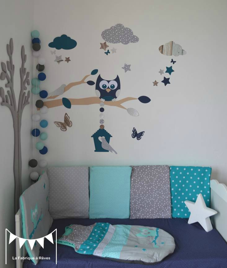 Decoration chambre bebe hibou rellik us rellik us