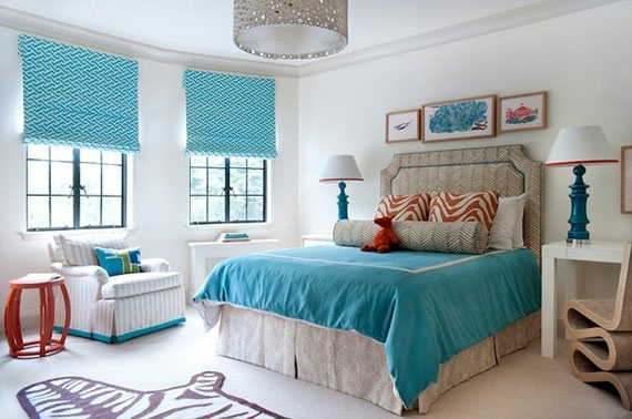 decoration chambre en bleu et blanc - visuel #7