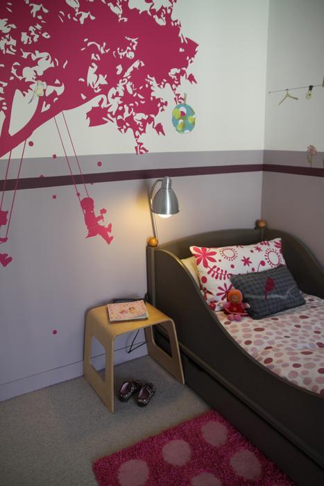 decoration chambre fille gris rose - visuel #4