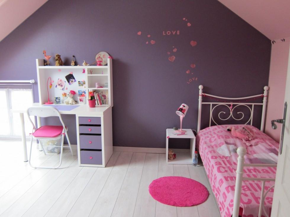 decoration chambre fille rose - visuel #2