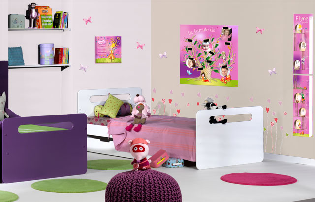 decoration chambre fille rose et vert. Black Bedroom Furniture Sets. Home Design Ideas