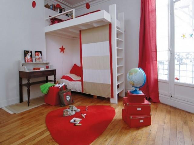 decoration chambre fille rouge. Black Bedroom Furniture Sets. Home Design Ideas