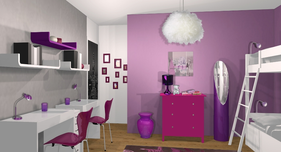 decoration chambre filles 11 ans visuel 8. Black Bedroom Furniture Sets. Home Design Ideas