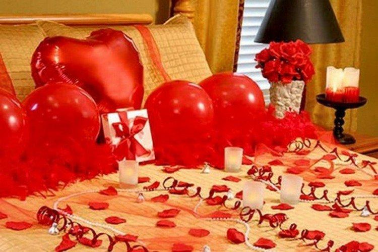 decoration chambre pour saint valentin