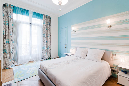 decoration de chambre en bleu. Black Bedroom Furniture Sets. Home Design Ideas