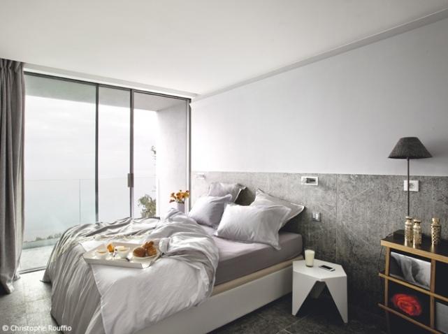 Chambre blanc gris for Chambre gris et blanc