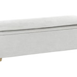 bout de lit coffre blanc
