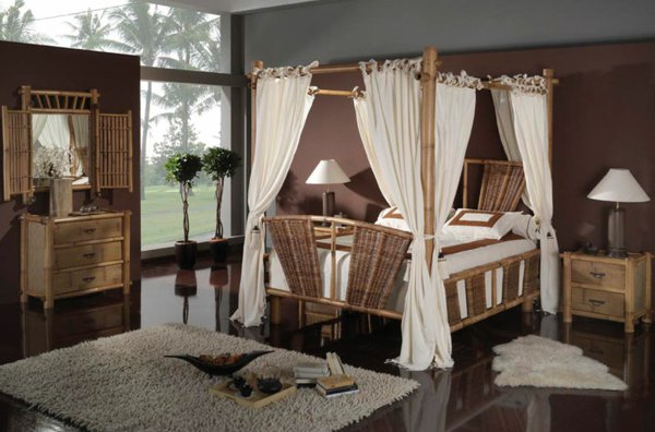 chambre deco bambou. Black Bedroom Furniture Sets. Home Design Ideas