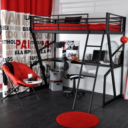 deco chambre ado avec lit mezzanine visuel 9. Black Bedroom Furniture Sets. Home Design Ideas