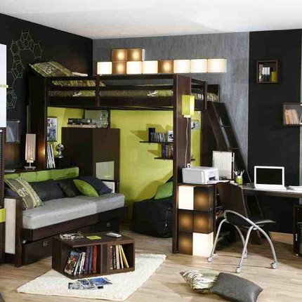 Chambre Avec Mezzanine Deco. Interesting Chambre Ado Lit Mezzanine ...
